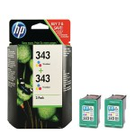 Cartucho Original HP Nº 343 - CB332EE (pack 2)