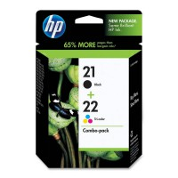 Cartucho Original HP Nº 21 + Nº 22 - SD367AE